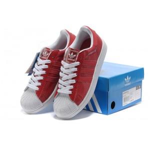 Basket Adidas Superstar 2 en rouge