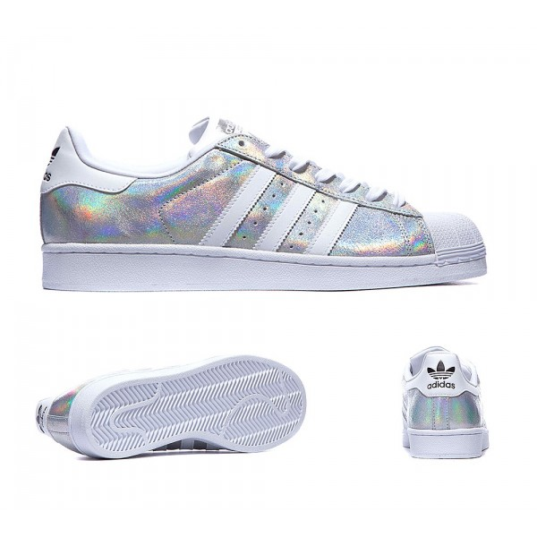best service 1062d 7bd2a adidas Originals Superstar Shine Formateur Blanc Chaussures