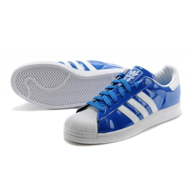 adidas cuir superstar bleu