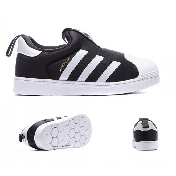 50ad7a046cb2b Adidas Originals Enfant Superstar 360 Formateur Noir Blanc Chaussures