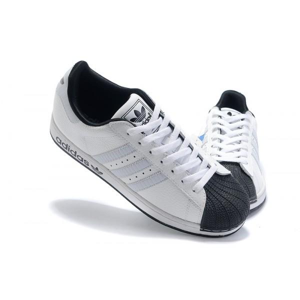 another chance f03a1 11c54 Chaussure Adidas Superstar Femme pas cher En cuir Blanc Noir