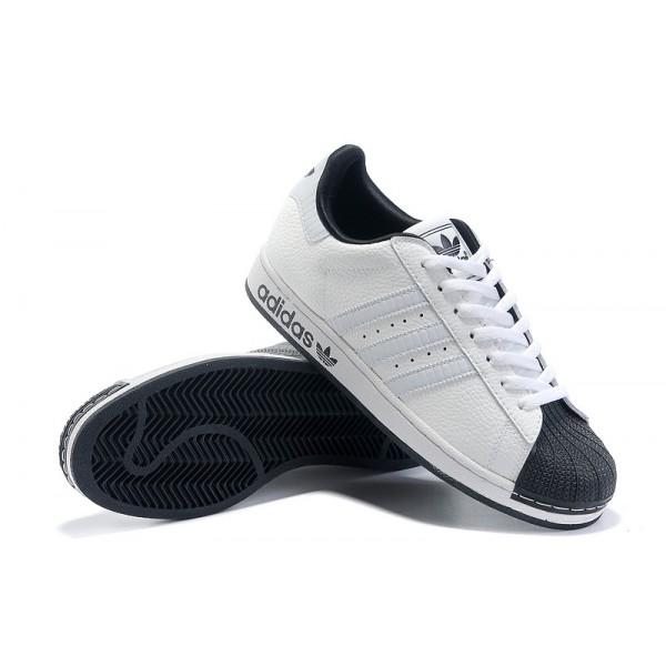 a2c0a7cfab Chaussure Adidas Superstar Femme pas cher En cuir Blanc Noir ...