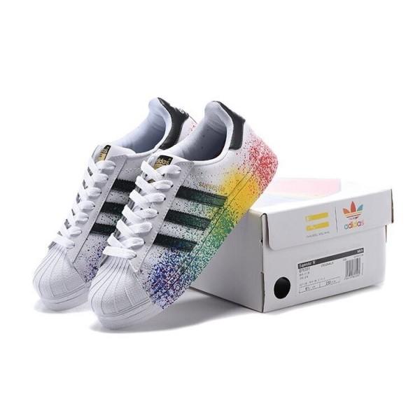 chaussure adidas superstar encre or blanc et noir